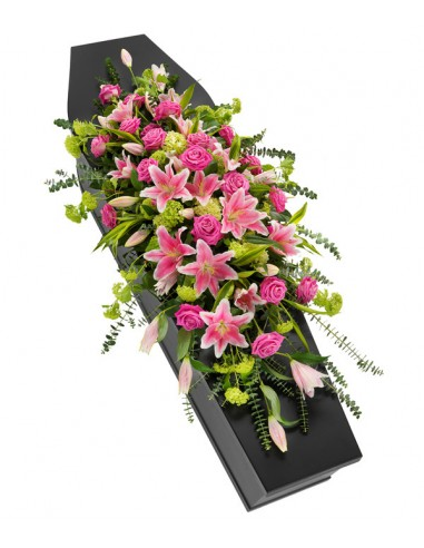 Casket Spray - Lilies and Roses