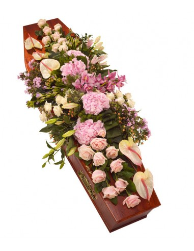 Casket Spray - Pastel Pinks