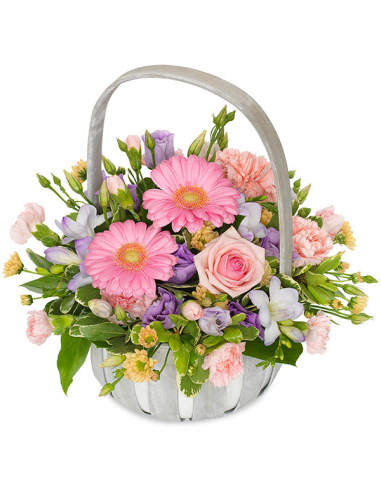 Basket Arrangement in Pretty Pastels