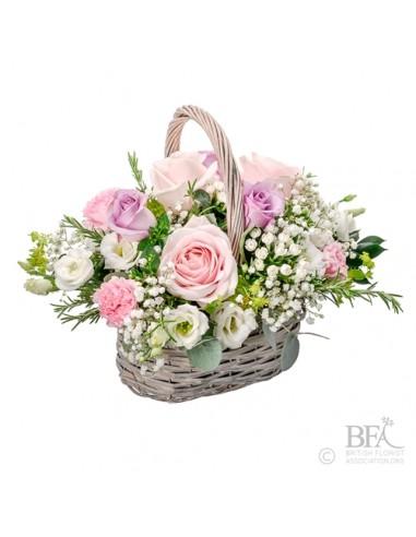 Pretty In Pink Basket Arrangement